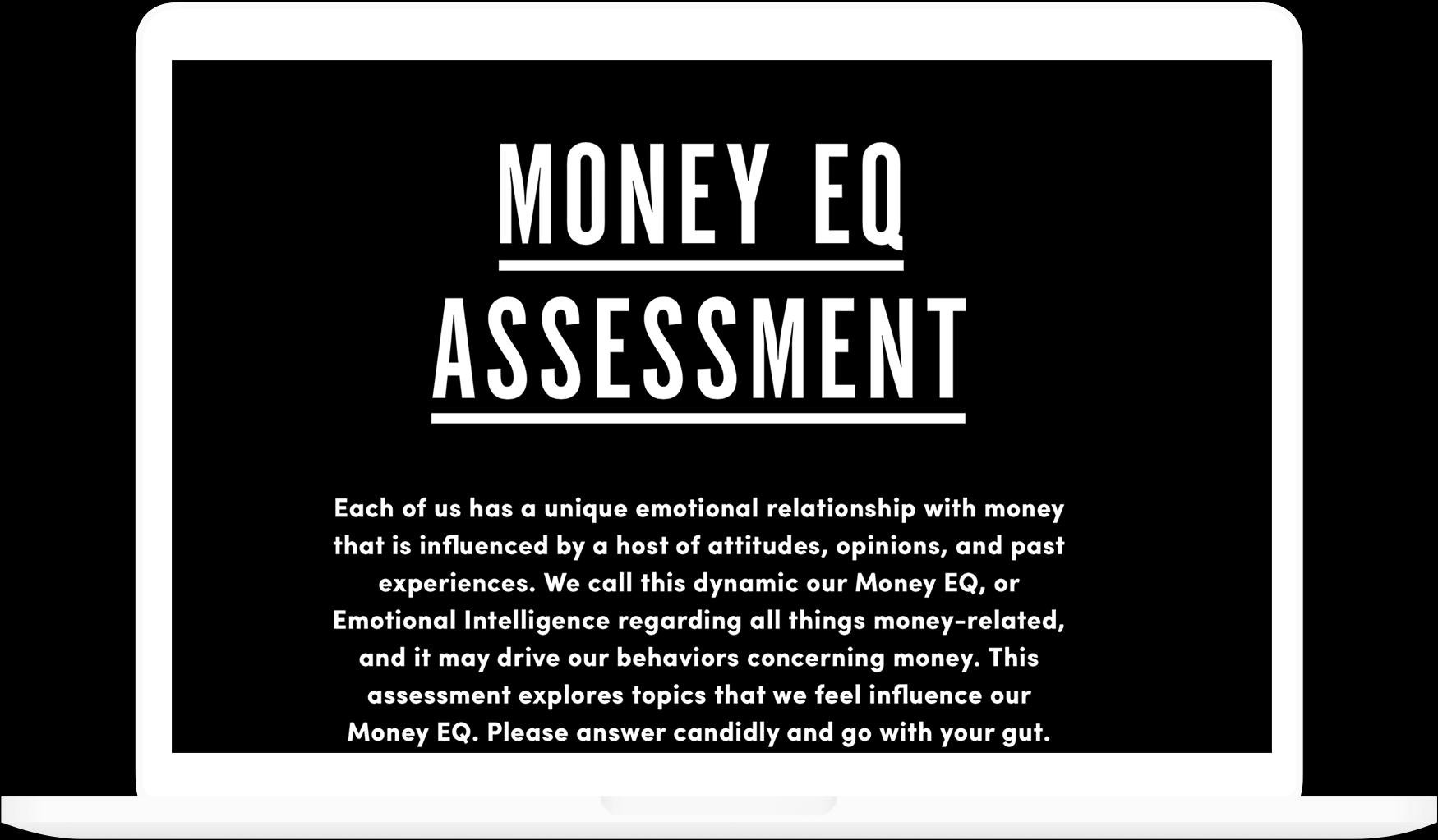 MONEY EQ ASSESSMENT